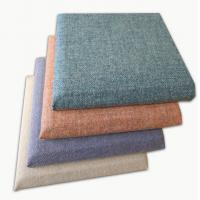 Decorative Soft Covered Fabric Fiberglass Acoustic Wall Panels Square Edge Manufactures