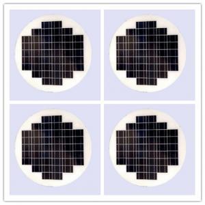 Round Transparent Solar Panel GlassPhotovoltaic High Conversion For Vehiches Manufactures