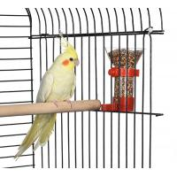 plastic bird seed food feeder with clip, for finches canary cockatiel,color vary Manufactures