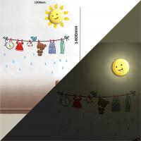Baby room decoration, fashion creative wall sticker wallpaper led lamps cheap Manufactures