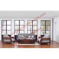 Solid Wood Sofa with Upholstery for Luxury Living Room Made in China Manufactures