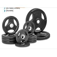 Rubber Weight Plates With Three Handles , 2.5-60kg Free Weight Plates Manufactures