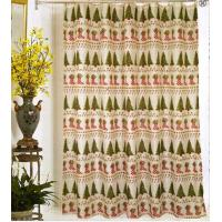 China Christmas fabric shower curtains on sale