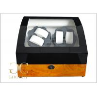 Double Watch Winder Box , Auto Winding Watch Box Battery Powered Manufactures