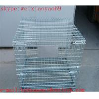 China heavy gauge wire mesh storage  cage/pallet cage/wire security cage/steel storage cabinets (factory price ) on sale