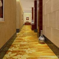 4m Width Golden Hotel Corridor Decorative Axminster Carpet For Sales With Low Prices Manufactures