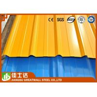 Zinc Aluminized Ppgl / Ppgi Color Steel Roof Tile Steel Roofing Sheets Construction Use Manufactures
