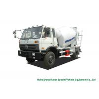 China Industrial 4x2 / 4x4 Mobile Concrete Agitator Truck 6 Cbm With 3 Seater on sale