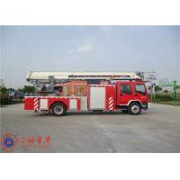 Stainless Steel Fire Pump Aerial Platform Fire Truck , Wheel Base 5550mm Aerial Ladder Truck Manufactures