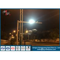 Security Monitoring CCTV Camera Pole Galvanized Steel Camera Mount Pole Manufactures