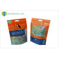 Printed Ziplock Stand Up Bags For Pet Food , Plastic Stand Up Zipper Pouch Manufactures
