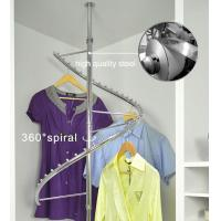 360° Rotating Foldaway Coat Hanger Stand Stainless Steel For Hanging Clothes Manufactures
