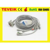 China AHA Round 6pin 5 Leads ECG Cable For Mindray Patient Monitor on sale