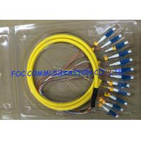 Distribution Optical Fiber Pigtail LC UPC 12Cores Flame Retardant Low Attenuation Manufactures