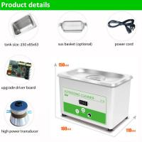 800ml Ultrasonic Cleaner Jewelry Glasses Tattoo Dental Home Health Care Manufactures