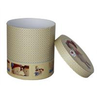 Eco-friendly Round Paper Cans Packaging with Custom Logo  for Clothes , Doll ,  Gift , Toys Manufactures
