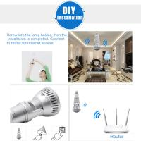 Quality EAZZYDV Wireless  Bulb Wifi Camera Indoor Security Camera with LED light and Remote Control for sale