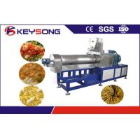 China Shell Potato Food Twin Extruder Machine , Fried Snack Food Industry Equipment on sale