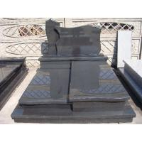 Dark Grey G654 Granite Stone Tombstone Pandang Dark Granite Cross Monument Design Manufactures