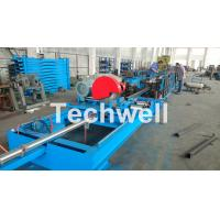 Step Beam Rack Roll Forming Machine With Welding Line , Servo Flying Saw Cutting Device Manufactures