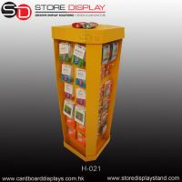 Single color four sides display stand with hooks for hanging Manufactures