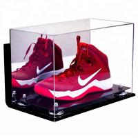 China High Transparent Clear Acrylic Shoe Display Case Acrylic Display Case Box on sale