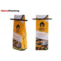 China Coffee Back Sealed Side Gusset Bag Matte Foil Laminated With Tin Tie Value on sale