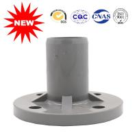 China Durable Water Supply UPVC Pipe Fittings Single Gray Ts Flange For Drain on sale