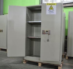 Grey Hazardous Storage Cabinets , Dangerous Goods Storage Cabinets For Chemicals Manufactures