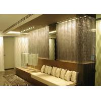 Room Separator Metal Chain Curtains , Aluminum Coil Drapery For Home Decoration Manufactures