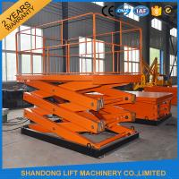 1 ton 3.3 m CE Electric Hydraulic Scissor Lift Platform for Material Handling