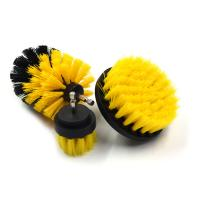 Grout Cordless PP Bristle Drill Brush , Power Drill Scrubber Plastic / Steel Base Brush Manufactures