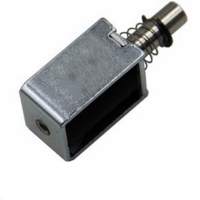 China Supply cabinet electromagnetic lock frame type push pull small solenoid 12V on sale