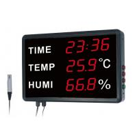 China Time temperature humidity Simultaneously Digital Thermometer And Hygrometer For Warehouse And Room on sale