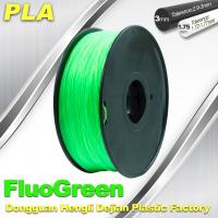 1.75 / 3mm PLA Fluo - Green Fluorescent  Filament for RepRap , Cubify Manufactures