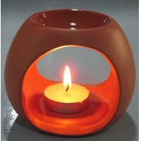 Tealight Room Fragrance Ceramic Oil Burner Tart Warmer Red Color For Gifts Manufactures