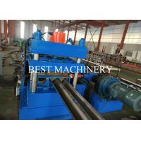 Road Safety Highway Guardrail Roll Forming Machine 22kw Power PLC Control Manufactures