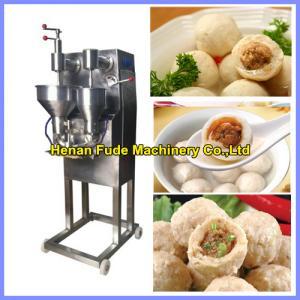 China Automatic stuffing meatball forming machine , stuffed fish ball making machine on sale