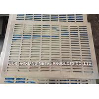 Decorative PVC Coated Perforated Metal Sheet For Petroleum / Foodstuff Manufactures