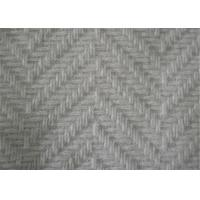 57/58 Inch Herringbone Tweed Fabric Anti Static With Skin Friendly Material Manufactures