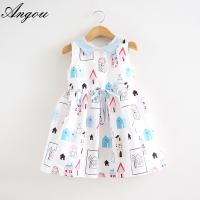 Angou Girls Dress Brand Fashion Princess Dress Designer Character Painting dress wholesale Manufactures