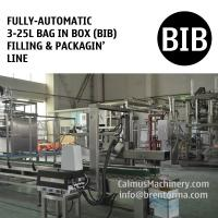 Fully-automatic 3-25L Bag in Box Water Wine Rum Alcohol Beverage Oil BIB Filling Machine and Packaging Line Manufactures