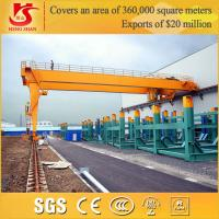 China workshop BMH Type Euro-style double girder semi gantry crane for sale on sale