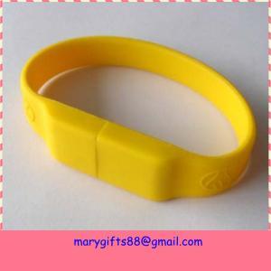Bulk cheap 4GB USB flash drives silicon USB bracelet Manufactures