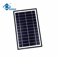 Black Residential Solar Power Panels / Aluminum Profile Solar Panel Frame 7W 6V Manufactures