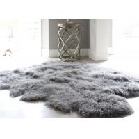 12-13 Cm Wool Natural Home Sheepskin Rug , Mongolian Lamb Fur Throw Blanket  Manufactures