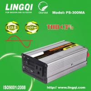 300 Watt pure sine wave inverter car charger 12-24V dc 110-240V ac Manufactures