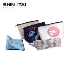 Rainbow Custom Printed PU Makeup Bag Cosmetic Bag Manufactures