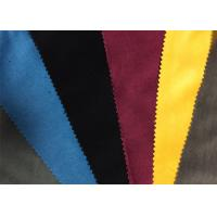 Colored Military Garment / Home Textile Velveteen Fabric Cloth Manufactures