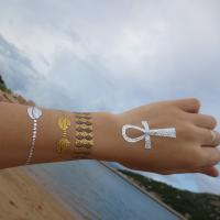Gold foil hot stamping real looking fake tattoos  for adults Manufactures